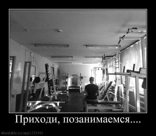 демотиватор в спортзал прежде чем